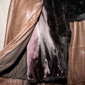 Jackets & Blazers - Leather and Opossum Coat